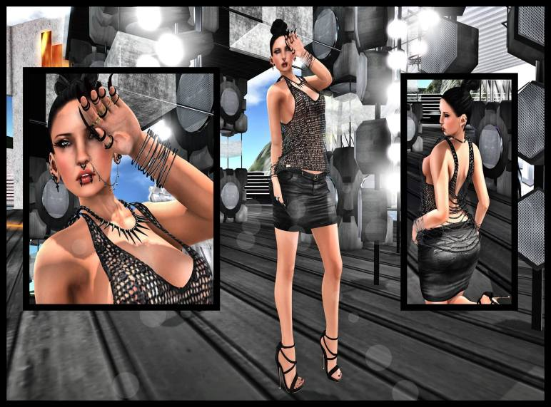 INNO NV SLASHED SHIRT BLOG:CYNF SKIRT