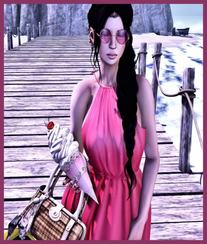 Inno pink dress collab BLOG-ICEcream
